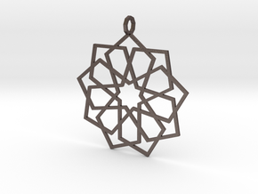 eastern ornament edged in Polished Bronzed Silver Steel