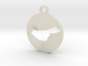 bird pedant CLK Studio in White Acrylic