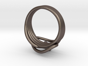 HeliX Love & Life Ring - Ring in Polished Bronzed Silver Steel