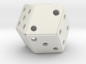 Rhombic Die #2 in White Natural Versatile Plastic