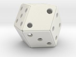 Rhombic Die #2 in White Natural Versatile Plastic