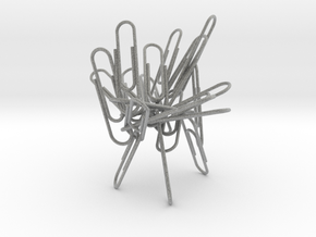 Paperclip Sculpture/Holder in Metallic Plastic