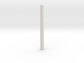 4mm Fluted Rod 99mm long X2 in White Strong & Flexible