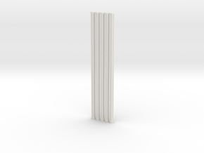 Fluted Rod 99mm X5 in White Strong & Flexible