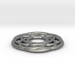 Dreamcatcher Pendant in Natural Silver