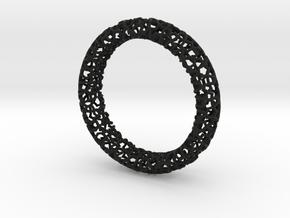 Cosma Silver Bangle in Black Strong & Flexible