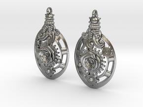 Botanika Mechanicum Earrings in Natural Silver