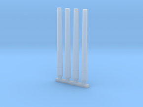 "3""/50 Mk 33 Spare Gun Barrels - 1/96 scale in Smooth Fine Detail Plastic"