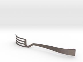 Jinard Flatware Fork in Polished Bronzed Silver Steel