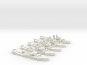 HMS Buttercup (Flower class) 1/1800 x5 in White Natural Versatile Plastic