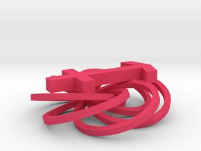 Sagittarius in Pink Processed Versatile Plastic