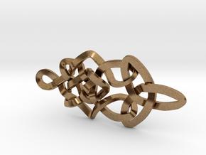 Pendant trefoil in Natural Brass