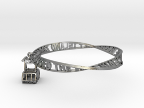 My Keepon Moebius Head Band or Belt – Bracelet in Raw Silver