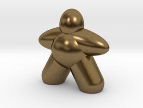 Ellipsoid Meeple in Natural Bronze