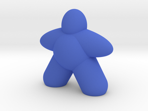 Ellipsoid Meeple in Blue Processed Versatile Plastic
