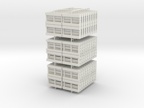 1:55 Scale Economy Pallets in White Natural Versatile Plastic