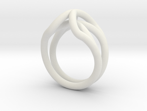 Spider Ring Size 6 in White Natural Versatile Plastic
