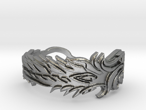 Covenants Crest Ring Size 10 in Natural Silver