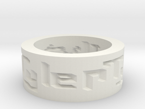 by kelecrea, engraved: I love u tyler in White Natural Versatile Plastic