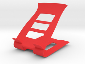 Phone Device Stand in Red Processed Versatile Plastic