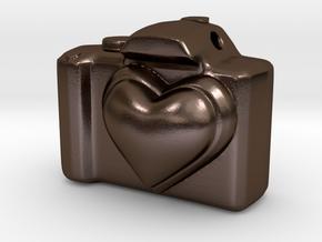 Love Camera in Polished Bronze Steel