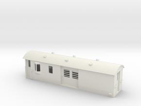 30ft Guards Van, New Zealand, (S Scale, 1:64) in White Natural Versatile Plastic