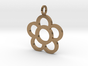 Flowers Pendant in Natural Brass