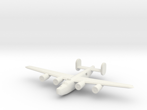 1/600 B24 Liberator in White Natural Versatile Plastic