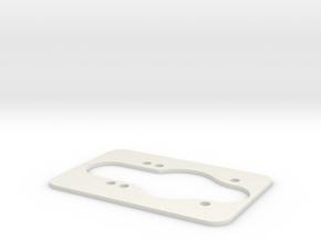 Longboard Dropthrough Template in White Natural Versatile Plastic