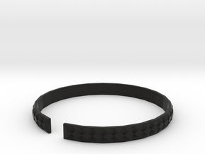 Gashi - Small plastic bracelet. in Black Natural Versatile Plastic