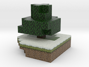 Minecraft tree, winter in Full Color Sandstone