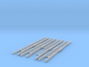 Steckleiter Teil B 2+2tlg mehrfach in Smooth Fine Detail Plastic