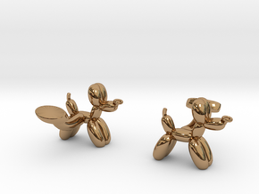 Balloon Dog Cufflinks in Polished Brass