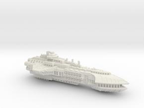 BFG Heresy Marine Cruiser (2.8 in) in White Natural Versatile Plastic