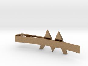 W Tie Clip in Natural Brass
