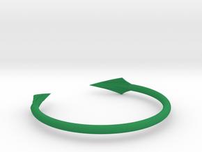 Arrow Bracelet in Green Processed Versatile Plastic
