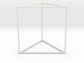 triangular prism 70mm in White Natural Versatile Plastic