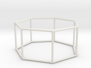 heptagonal prism 70mm in White Natural Versatile Plastic