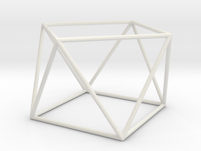 square antiprism 70mm in White Natural Versatile Plastic
