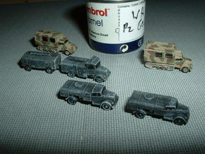 Opel Blitz Variants Z-Scale 1/220  in Smooth Fine Detail Plastic