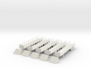Flatbed 02 Reviewing Stand with Steps in White Natural Versatile Plastic