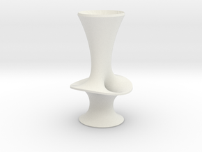 "Costa Vase - 7"" in White Strong & Flexible"