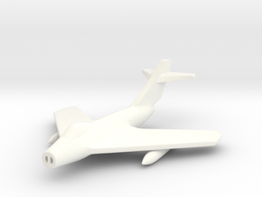 1/285 (6mm) Mig-17F in White Strong & Flexible Polished