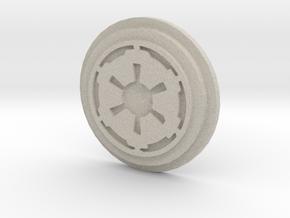 Imperial Logo Pommel Insert in Natural Sandstone