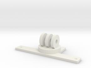 GoPro Rustler Mount in White Natural Versatile Plastic