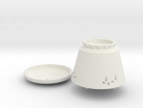 Dragon Capsule in White Natural Versatile Plastic