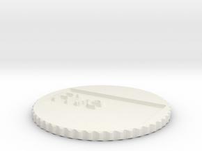 by kelecrea, engraved: Five in White Natural Versatile Plastic