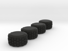 Military-Style Tires, 5mm Diameter in Black Strong & Flexible