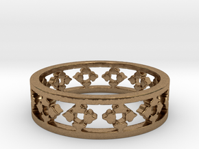 Endless Knight  Ring Size 6.5 in Natural Brass