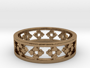 Endless Knight Ring Size 5.5 in Natural Brass